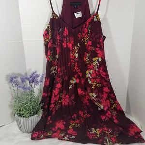 Sanctuary Red Floral Sleeveless Tunic Dress Sz L